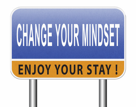 change your mindset, a new way of thinking, think different. Change your ways. Standard-Bild - 89902845