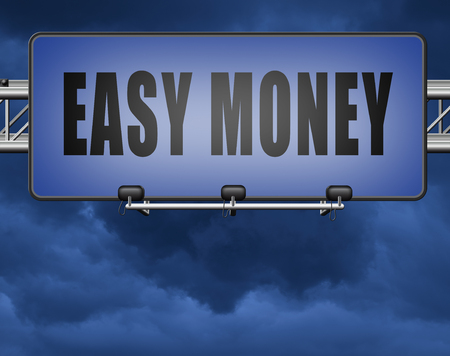 Fast easy money quick extra cash make a fortune online income Standard-Bild - 89902854