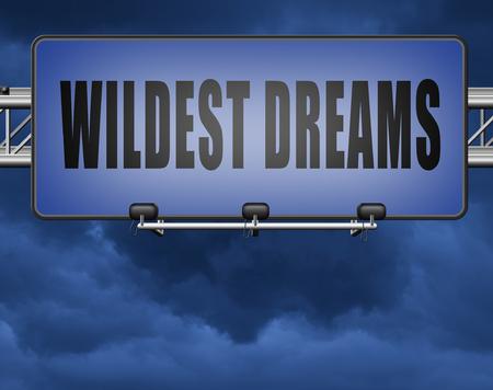 make wildest dreams come true, live and realize your dream Standard-Bild - 89902857