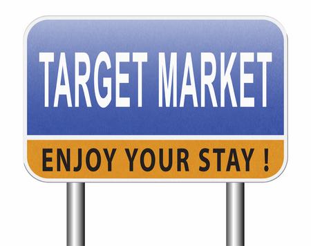 Target market business targeting for niche marketing strategy, road sign billboard. Standard-Bild - 89902860