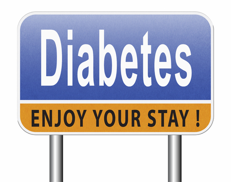 Diabetes find causes  and sceen for symptoms of type 1 or 2 prevention by dieting or treath with medication Standard-Bild - 89902875