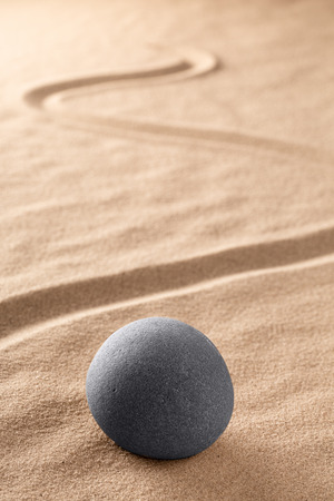 spa wellness and zen, relaxation and meditation concept for purity calmness peaceful harmony simplicity relax sand and stone texture background with lines and copyspace Standard-Bild - 119667985