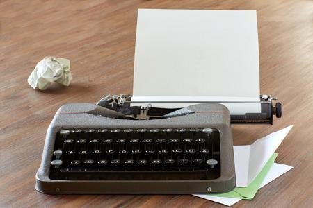 analogous: Typewriter and paper Stock Photo