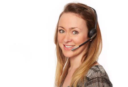 pretty women in the Call Center