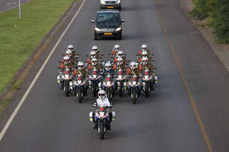 nelson: The Nelson Mandela Cortege en route to Waterkloof