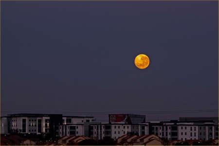 paisaje lunar: Paisaje lunar Foto de archivo