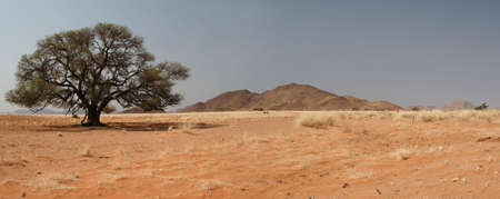 Panoramic landscape in the Tiras mountains in Namibia photo