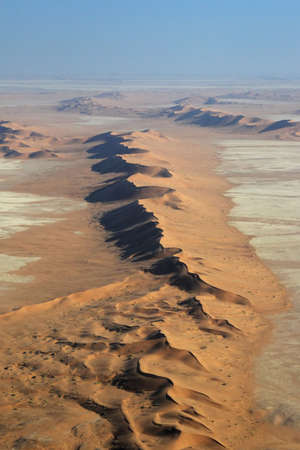 Aerial view of the Namib Desert near Swakopmund photo