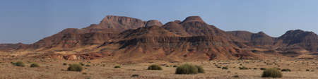 Panorma Shot of the landscape in Damaraland, Namibia photo