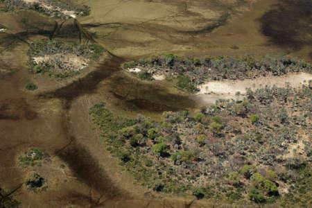 Okavango Delta: Aerial view of the Okavango Delta, Botswana.