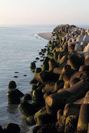 breakwater: Breakwater on Heligoland.