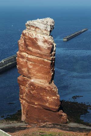 The Tall Anna, the landmark of the German island of Heligoland. photo