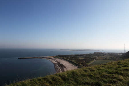 View over the northern beach of Heligoland to the neighbouring island D�ne. photo
