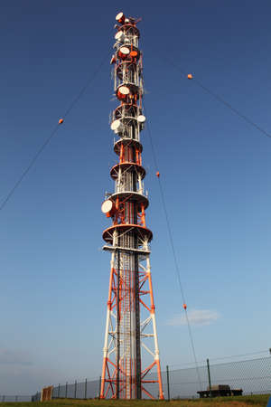 helgoland: Radio mast on Helgoland. Stock Photo