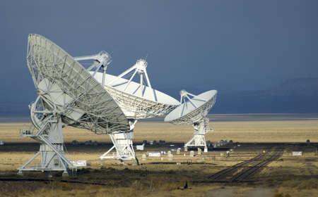 Landschap van de Very Large Array van radiotelescopen