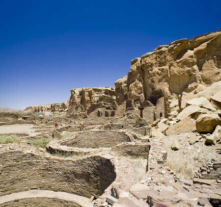 chaco: Ancient Ruins at Chaco Canyon, New Mexico