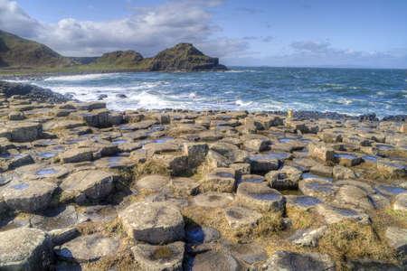 Landscape of Giant's Causeway Northern Ireland Imagens