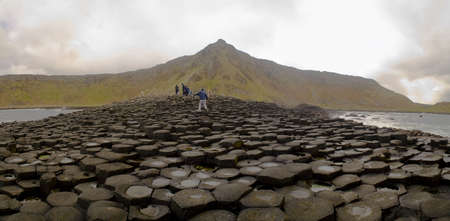 Landscape of Giant's Causeway Northern Ireland Stockfoto
