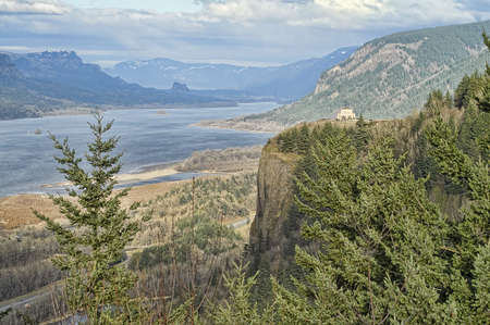 View of Crown Point and Columbia Gorge.  Oregon, USA. Stock Photo - 5774923