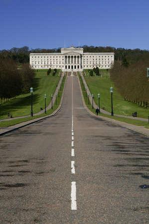 美しい国会議事堂。北アイルランドでストーモント 写真素材