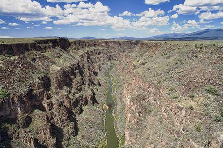 Rio Grande Gorge near Taos New Mexico, USA. Imagens