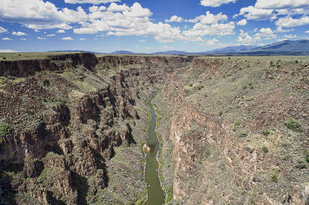 Rio Grande Gorge near Taos New Mexico, USA. Stock Photo