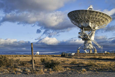 Landscape of Very Large Array of Radio Telescopes in New Mexico, USA Stock Photo
