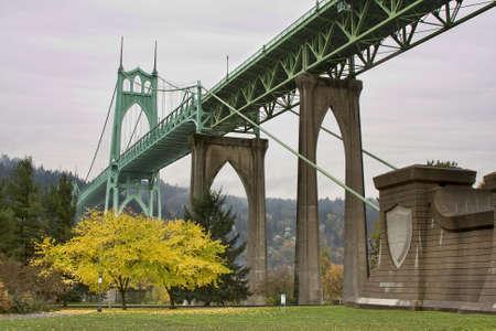 セント ・ ジョンズ橋、オレゴン州ポートランドの美しい画像。 写真素材