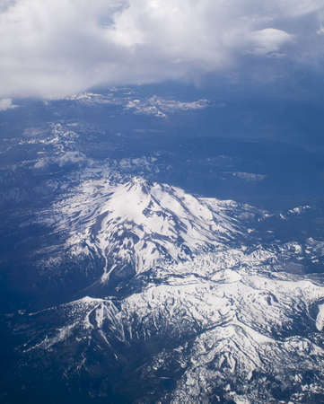Aerial Image of Snow Covered Mount Hood in Oregon, USA. Stock Photo - 6299191