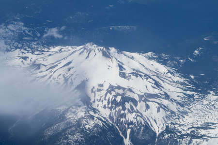 Aerial Image of Snow Covered Mount Hood in Oregon, USA. Stock Photo - 6299190