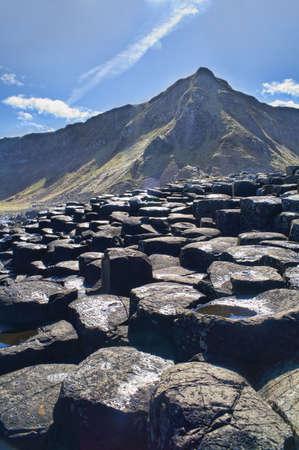 Landschap van Noord-Ierland Giant van Causeway