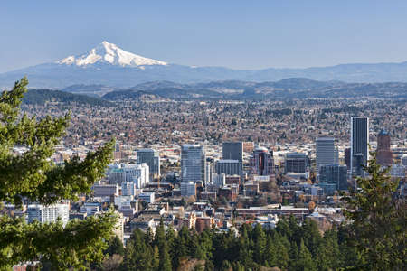 View of Portland, Oregon from Pittock Mansion. photo