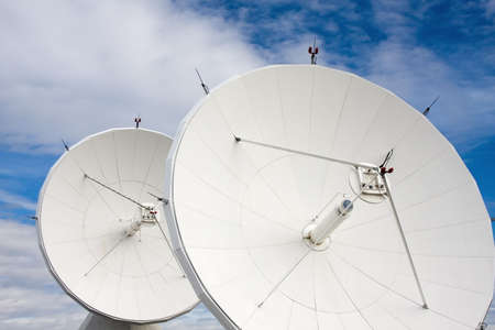 Satellite Dishes at National Radio Astronomy Observatory in Brewster, Washington, USA.