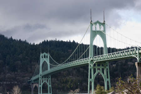 Beautiful Image of Saint Johns Bridge in Portland, Oregon.