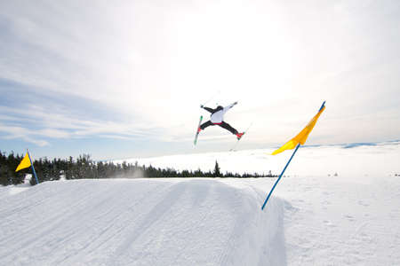 Male Skier Catches Big Air