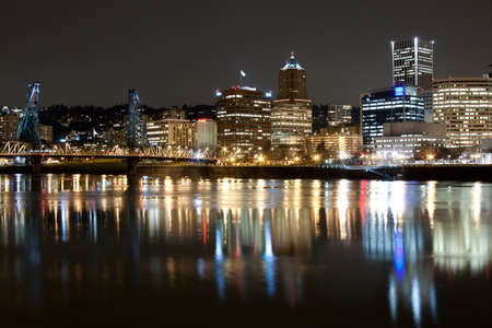 View of Portland, Oregon overlooking the willamette river. photo