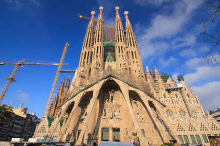 Amazing Image of the Cathedral of La Sagrada Famila in Barcelona. photo