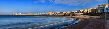 Panoramic view of the Cathedral Campo del Sur in Cadiz, Spain. Stock Photo - 13749834