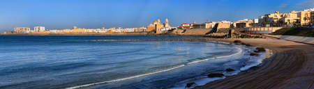Panoramic view of the Cathedral Campo del Sur in Cadiz, Spain. photo