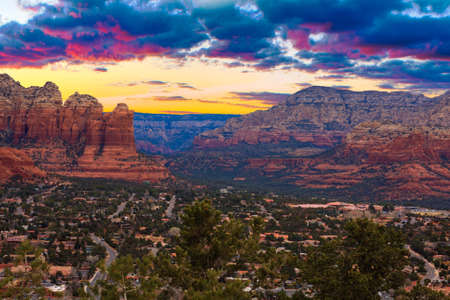 sedona: Nice Sunset Image of Sedona; Arizona