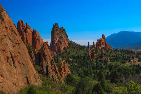 Beautiful Bright Image of  the Garden of the Gods Imagens