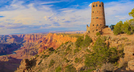 Beautiful Landscape of Grand Canyon from Desert View Point with the Colorado River visible  photo