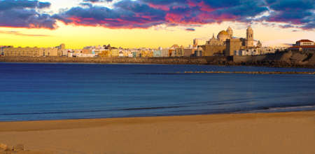 Panoramic view of the Cathedral Campo del Sur in Cadiz, Spain