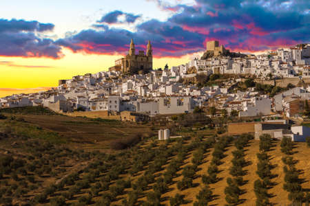 View of Olvera, one of the white villages of the province of Cadiz, Andalusia, Spain