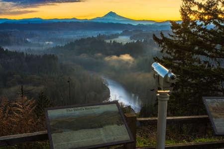 Beautiful Image of Mt  Hood taken during sunrise from Jonsrud view point in Sandy, Oregon, USA  Reklamní fotografie