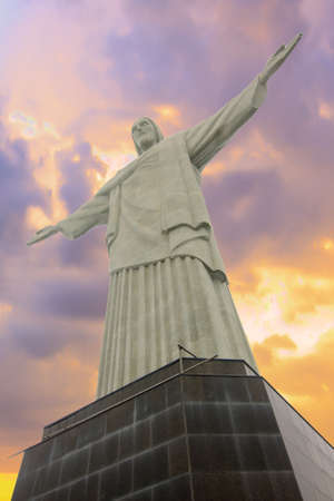 rio: RIO DE JANEIRO, BRAZIL - JUNE 16  Christ the Redeemer, located on top of Corcovado, Rio Editorial