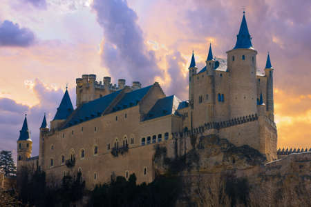 segovia: Ancient Castle in Segovia, Spain. Editorial