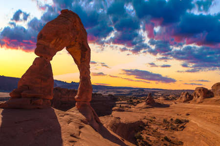 arches national park: Beautiful Sunset Image taken at Arches National Park in Utah