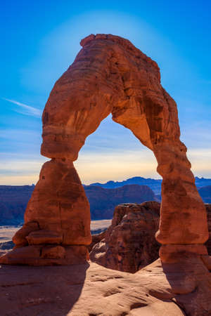 rock arch: Beautiful Image taken at Arches National Park in Utah Stock Photo