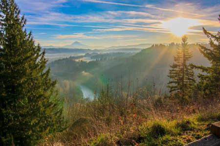Beautiful Image of Mt. Hood taken during sunrise from Jonsrud view point in Sandy, Oregon, USA. Reklamní fotografie